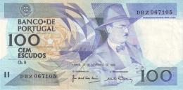 PORTUGAL 100 ESCUDOS 24.11.1988 P-179f UNC SIGN. J. MOREIRA & A. RAMALHEIRA [ PT179f5 ] - Portugal