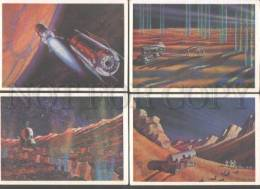 103227 RUSSIA SPACE 1973 Leonov Sokolov 32 Colorful Postcards - Space