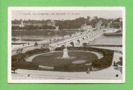 CPA FRANCE  37  ~  TOURS  ~  1  Vue D'ensemble Des Squares Et Du Pont  ( Etoile 1907 ) - Tours