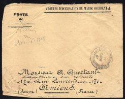MAROC MOROCCO - RABAT TRESOR POSTES ARMEES 1914 VERS AMIENS - MA01 - Marokko (1891-1956)