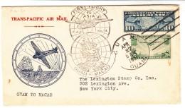 Guam / U.S. / Airmail / Macau - Guam