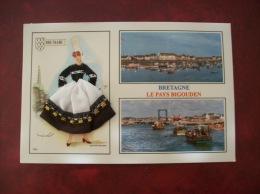 Carte Postale Brodée: Bretagne, La Pays Bigouden - Brodées