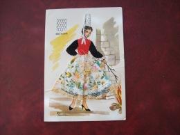 Carte Postale Brodée: Bretagne, Signature Elsi Gulier - Brodées