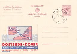 PUBLIBEL N° 2065 -  Oostende-Dover -    NL/ FR - Beau Cachet (Oostende) - Publibels