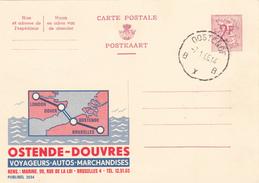 PUBLIBEL N° 2034 -  Ostende-Douvres -   FR /  NL- Beau Cachet (Oostende) - Publibels