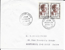 HERAULT 34 - BEZIERS -  1er  JOUR FRANCE 1957 - Jean Moulin - FDC