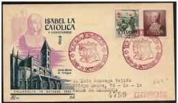 Spagna/Spain/Espagne: Raccomandata, Registered, Recommandé, Isabella E Ferdinando Di Spagna, Isabella And Ferdinand Of S - Familles Royales