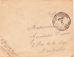3 X Brief Met Stempel  Belgische Legerposterij - Guerre 14-18