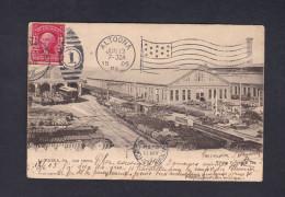 Marcophilie Marque Postale CPA Etats Unis USA Car Shops  Altoona 1905  New York Vers Bordezac Par Besseges - Marcofilie