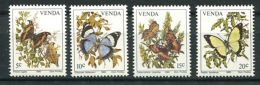 106 VENDA 1980 - Yvert 34/37 - Fleur Papillon - Neuf ** (MNH) Sans Charniere - Venda