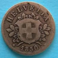 Svizzera  10 Rappen 1850  BB - Svizzera