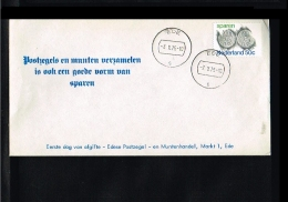 1975 - Netherlands FDC - Stamps & Coins - Coins On Stamp/cover - With Biggest Fairy-tale Of The Century [GM008] - FDC