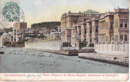 CO- CONSTANTINOPLE  PALAIS IMPERIAL DE DOLMA BAGTCHE AMBASSADE D´ALLEMAGNE    CPA  CIRCULEE - Türkei
