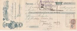 Lettre Change 5/11/1931 F PECHON Brosses POITIERS Vienne Pour Gourdon Lot - Cambiali