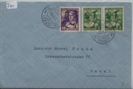 1933 Pro Juventute J65, J66 266, 267 Brief Vom Baulmes Nach Basel - Pro Juventute
