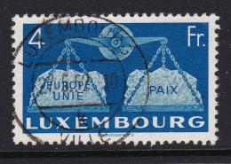 Luxemburg 1951 Mi#483 Vollstempel 1952-05-27 Luxembourg-Ville - Oblitérés