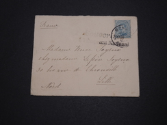 """BELGIQUE - Enveloppe De Mons Pour La France Avec Griffe """" Souscrivez à L ' Emprunt National """" - A Voir - L 2110 - Postmark Collection"""