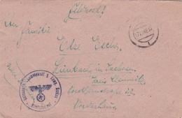 Feldpost WW2: Genesenden Sammelpunkt In Lemberg 2 (5. Kompanie) And Cachet From G. - Sammelpunkt 5 Komp. Krakau P/m 17.7 - Militaria