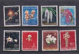 Thailand SG 570-577 1967 Thai Orchids Used  - Thaïlande