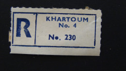 Sudan - Registration Label - Khartoum - Look Scan - Sudan (1954-...)