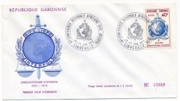 GABON => 1 FDC => IVeme Conférence Régionale Africaine INTERPOL- 1973 - Gabon
