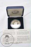1991 Belgium/ Belgique Proof Silver 5 ECU Coin - Charlemagne - 1993-...: Albert II