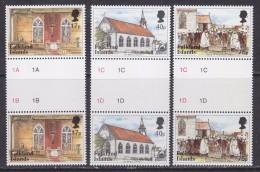 Falkland Islands 1999 St. Mary´s Church 3v Gutter ** Mnh (32098D) - Falklandeilanden