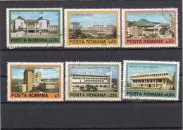 Romania 1979 - Yt 3175/80 Used Architecture Contemporaine Roumaine - Altri