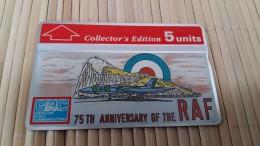 Phonecard Gibraltar 75 Th Anniversaire  308 A (Mint,Neuve) Rare
