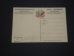 FRANCE - Carte De Franchise Militaire Avec Carte De L ' Europe - A Voir - L 2129 - Cartes De Franchise Militaire