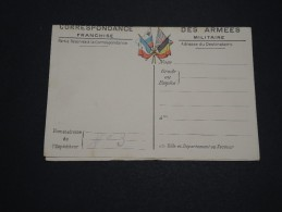 FRANCE - Carte De Franchise Militaire Avec Carte De L ´ Europe - A Voir - L 2131 - Cartes De Franchise Militaire
