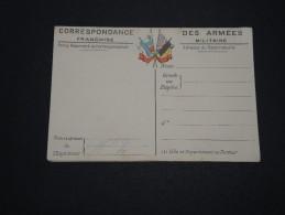 FRANCE - Carte De Franchise Militaire Avec Carte De L ´ Europe - A Voir - L 2132 - Cartes De Franchise Militaire