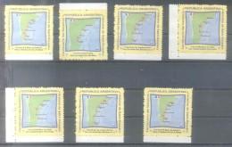 ANTOINE DE SAINT EXUPERY ARGENTINA Y OTRAS LOTE DE 7 VIÑETAS MAPAS MAPES MAPS VUELOS FLIGHTS