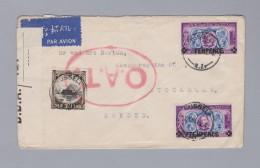 Neuseeland 1945-03-05 Russell O.A.T. Brief Nach Schweden - Poste Aérienne