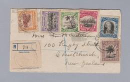 Cookinseln RAROTONGA R-Brief Nach Neuseeland - Cook