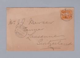 "Australien Victoria 1898-10-05 Melbourne Postkarte ""Leather Journal"" Nach Lausanne - 1850-1912 Victoria"