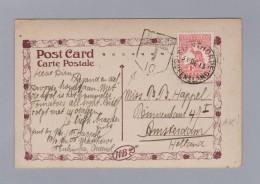 """Australien NSW 1913-12-31 STANTHORPE 1d Kanguru Stempel NSW 10 Taxiert Ansichtskarte """"Creek HB"""" Nach Amsterdam - 1850-1906 New South Wales"""
