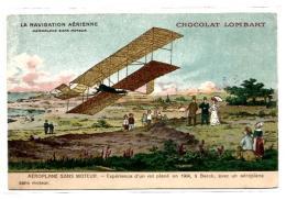 AVION.  LA NAVIGATION AERIENNE. PUB CHOCOLAT LOMBART - Aviateurs