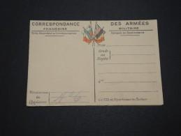 FRANCE - Carte En Franchise Avec Carte De L ´ Europe - A Voir - L 2135 - Cartes De Franchise Militaire