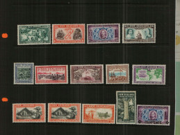 NEW ZEALAND - KGVI - 1940-1944 - 14 Stamps - MM - 1907-1947 Dominion