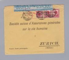 Ägypten 1915-11-13 Alexandria Zensur Brief Nach Zürich - Égypte