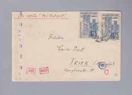 Portugal ~1940 Zensur Luftpost Brief Nach Trier - 1910-... République