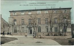 Ardèche : Vallon, Ancien Chateau, Actuellement Hotel De Ville, Couleur - Vallon Pont D'Arc