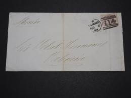 GRANDE BRETAGNE - Lettre De Dundee Pour Valencia En 1884 - A Voir - L 2146 - Covers & Documents