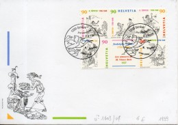 Suisse. Enveloppe Fdc. Rodolphe Topffer. 1999 - FDC