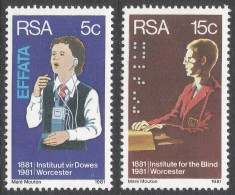 South Africa. 1981 Centenary Of Institute For Deaf And Blind, Worcester. MNH Complete Set SG 495-496 - South Africa (1961-...)