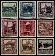 ~~~ Osterreich Austria 1923 - City Views  - Mi. 433/441 * MH  ~~~ - Ungebraucht
