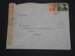 EGYPTE - Enveloppe  Pour La France Avec Contrôle Postal - A Voir - L 2158 - Egypt