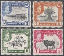 Bahawalpur. 1949 Silver Jubilee Of Ascension Of HH The Amir Of Bahawalpur. MH Complete Set. SG 39-42 - Bahawalpur