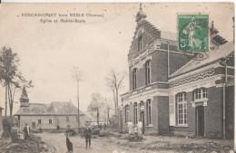 80  Foucaucourt Hors Nesle Eglise Et Mairie Ecole - Autres Communes